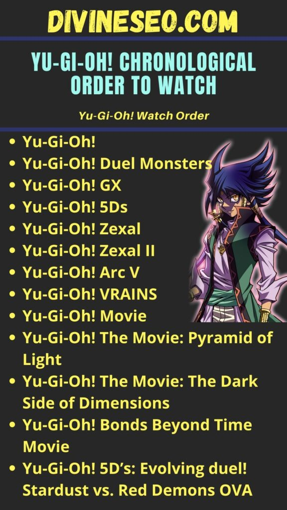 Yu-Gi-Oh! Chronological order To Watch